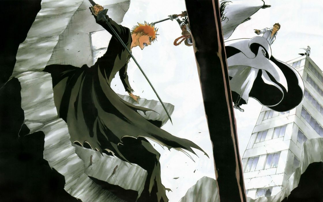 Bleach Kurosaki Ichigo Ichimaru Gin Anime Aizen Sousuke Tousen Kaname Wallpaper 1920x1200 18455 Wallpaperup
