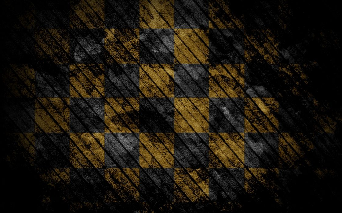 Abstract yellow grunge squares wallpaper