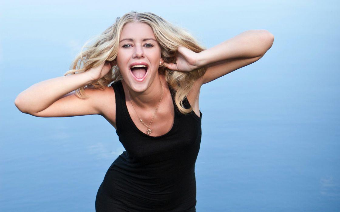 Blondes women panties dress stockings models outdoors ella black dress open mouth lakes white panties fame girls wallpaper