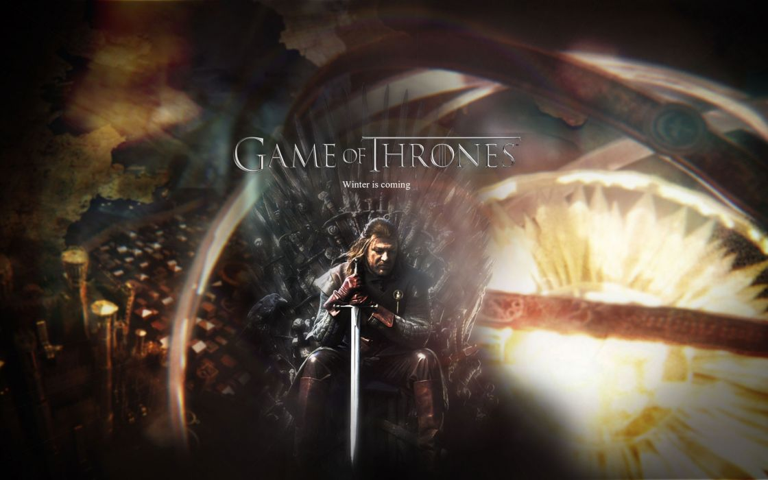 Fantasy art throne game of thrones a song of ice and fire tv series eddard 'ned' stark hbo george r_ r wallpaper