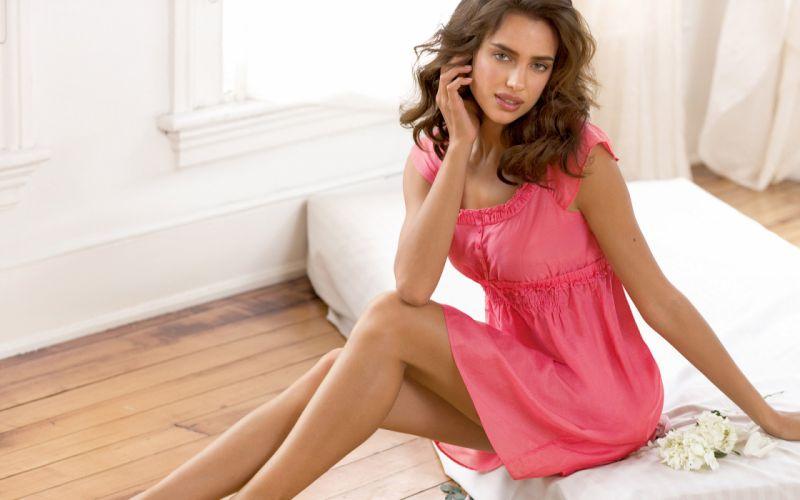 Women dress models irina shayk pink clothing wallpaper