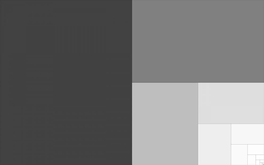 Gray golden ratio mathematics phi simplistic wallpaper