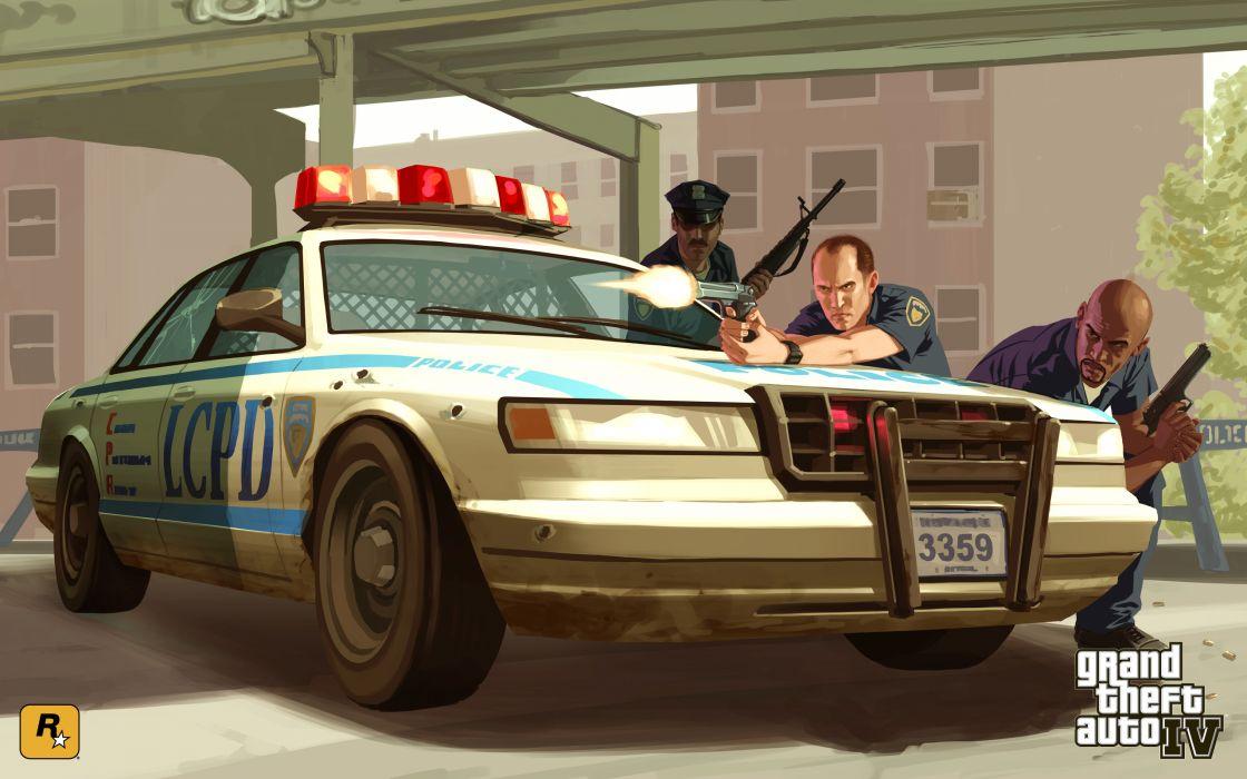 Video games grand theft auto police cars grand theft auto iv gta iv wallpaper
