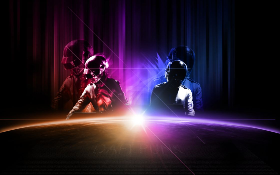 Sunrise music dawn daft punk electronics wallpaper
