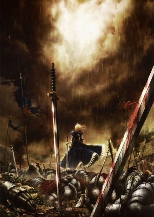 Blood saber  fatezero anime girls swords fate series wallpaper