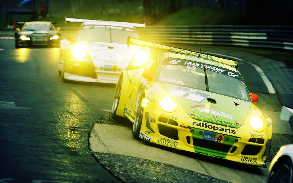 Racing races porsche 911 gt3 nA wallpaper