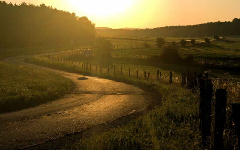 Landscapes nature roads wallpaper