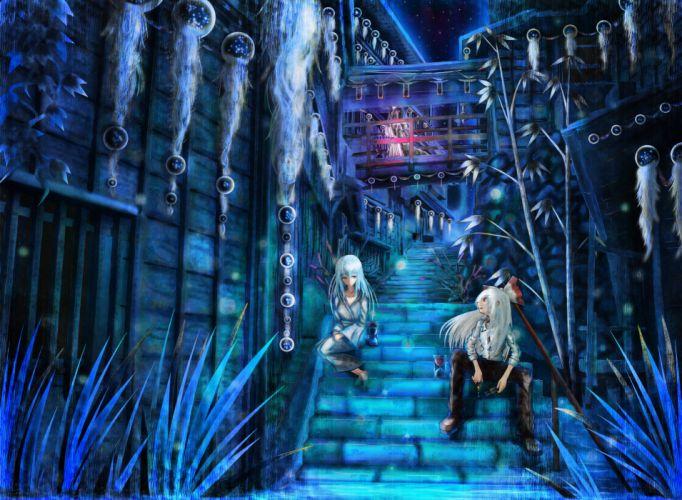 Video games touhou fujiwara no mokou scenic houraisan kaguya kamishirasawa keine anime girls wallpaper