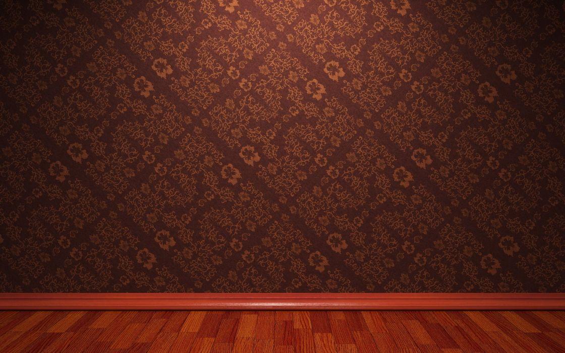 Floor 3d view room wallpaper