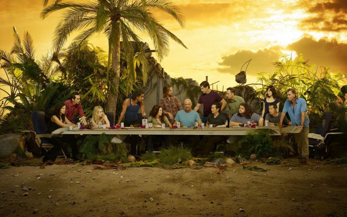 Lost (tv series) the last supper television cast wallpaper