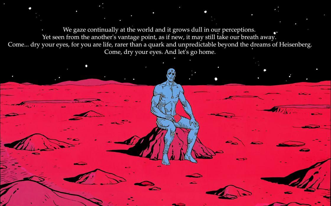 Watchmen dc comics quotes dr wallpaper