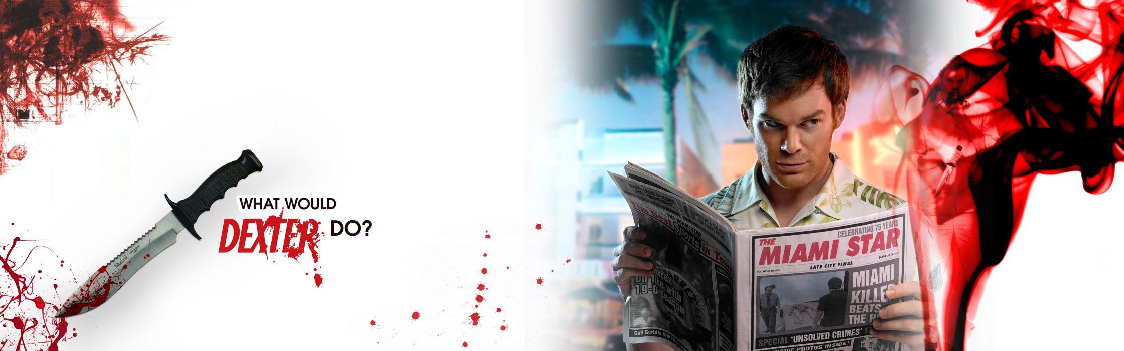 Dexter blood knives michael c wallpaper