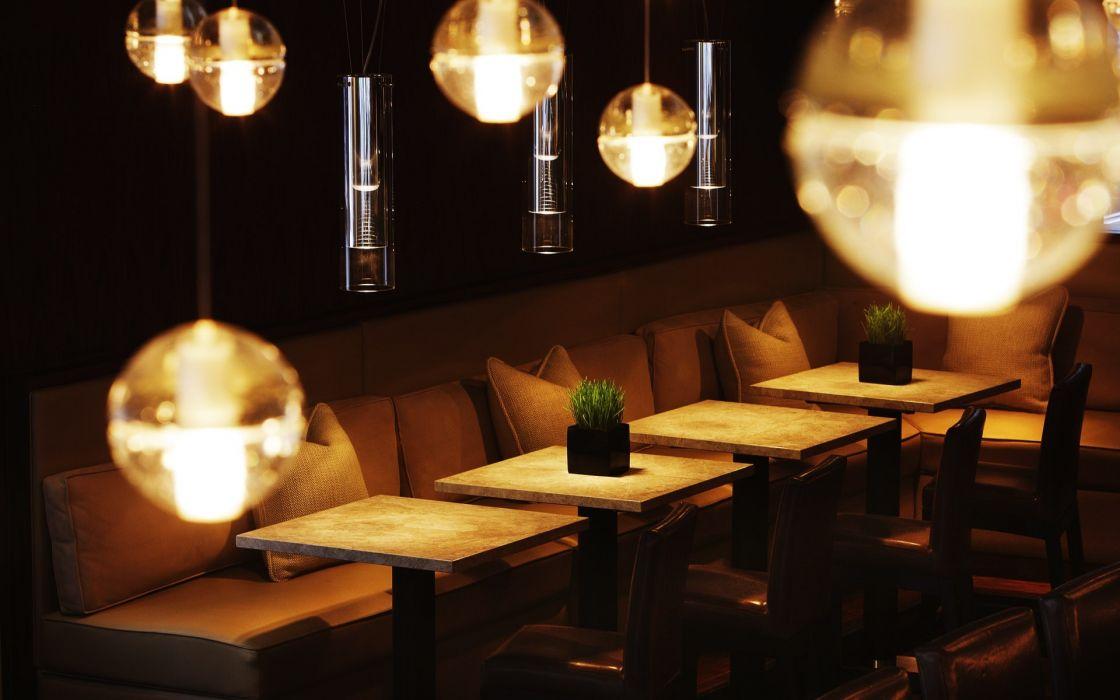 Night design bar interior wallpaper