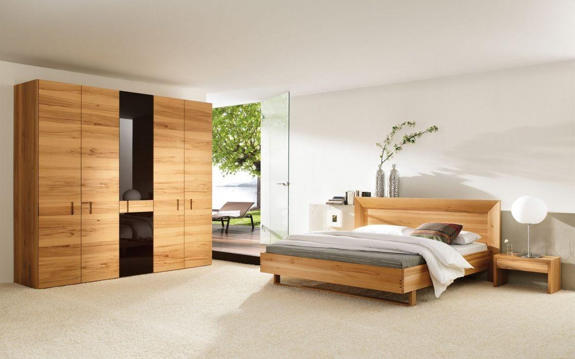 Architecture room beds interior bedroom wallpaper
