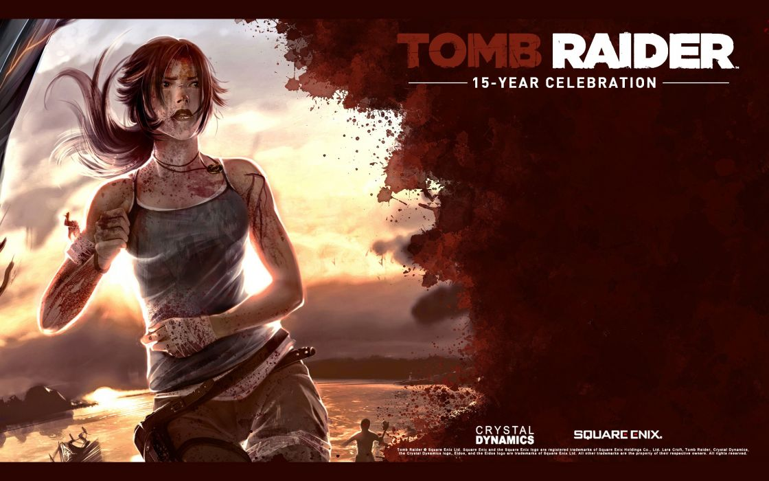 Women video games tomb raider artwork square enix wallpaper