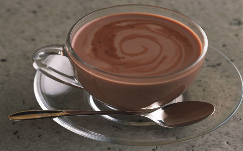 Coffee chocolate cups spoons wallpaper