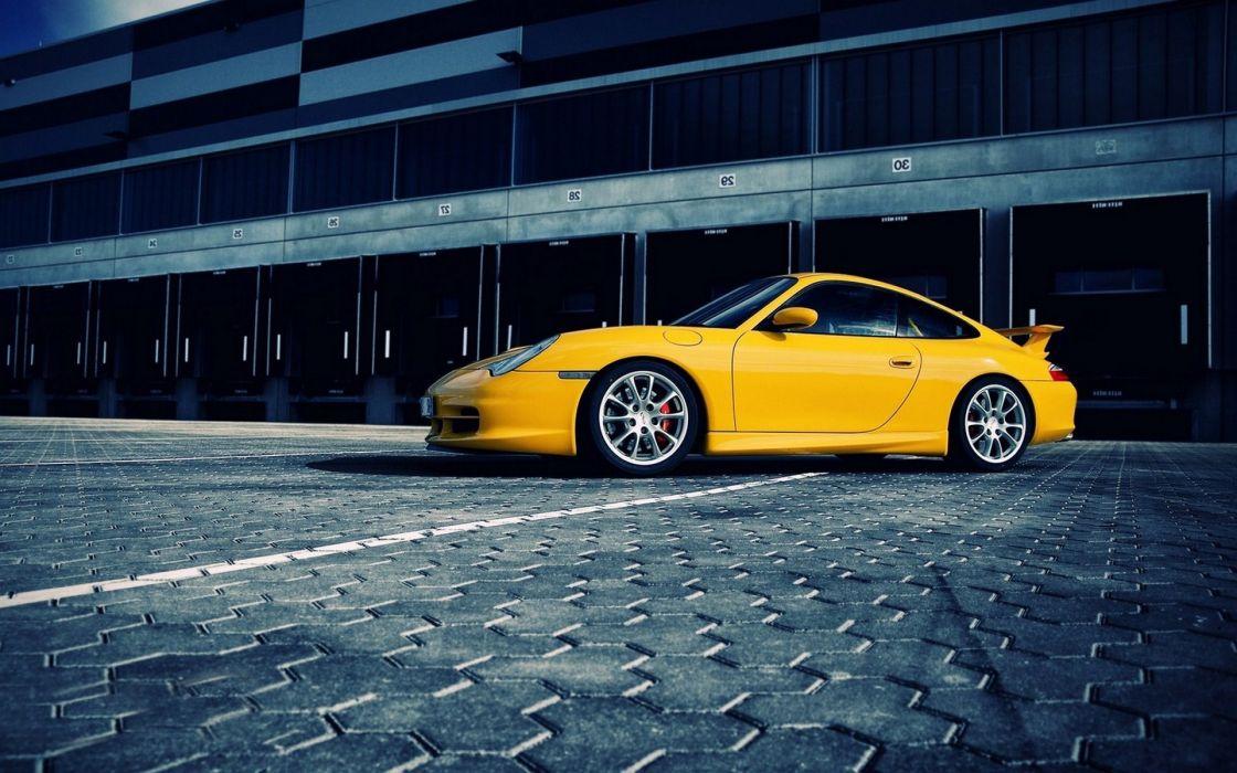 Porsche cars artwork porsche 911 gt3 yellow cars wallpaper