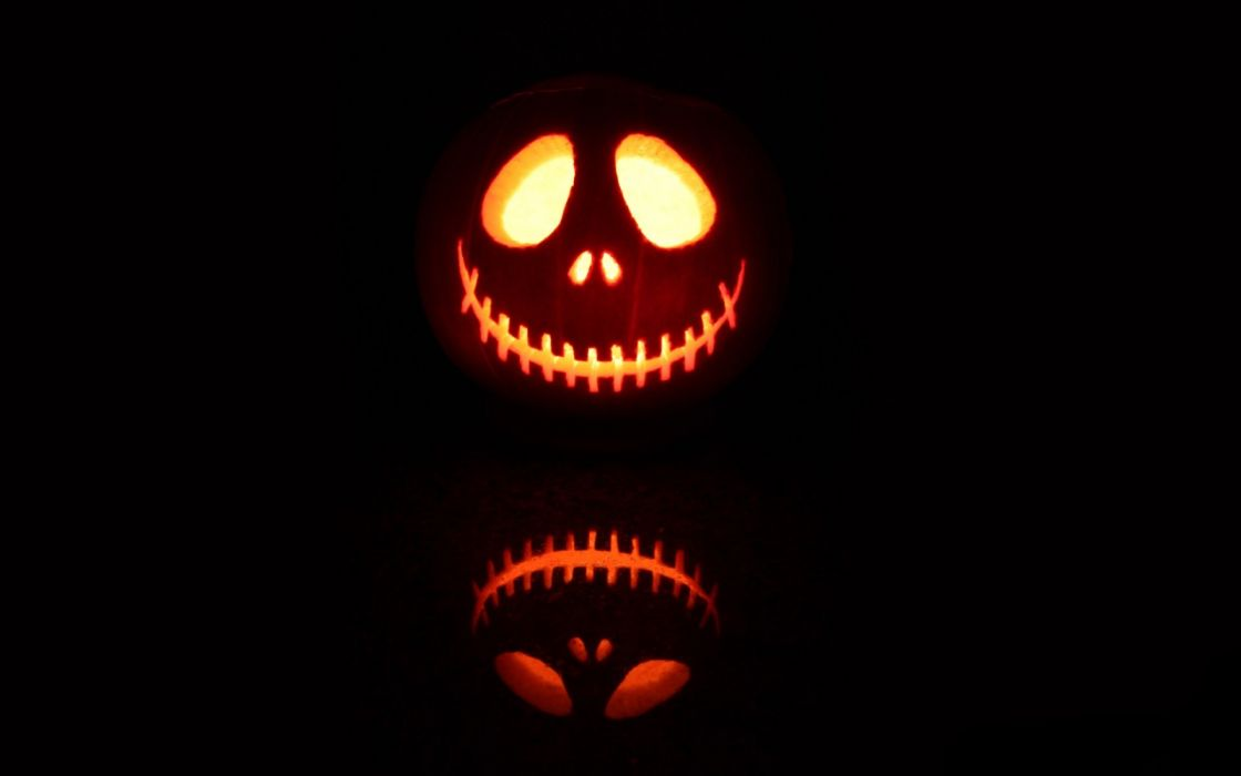 Halloween scary jack skellington jack o lantern wallpaper