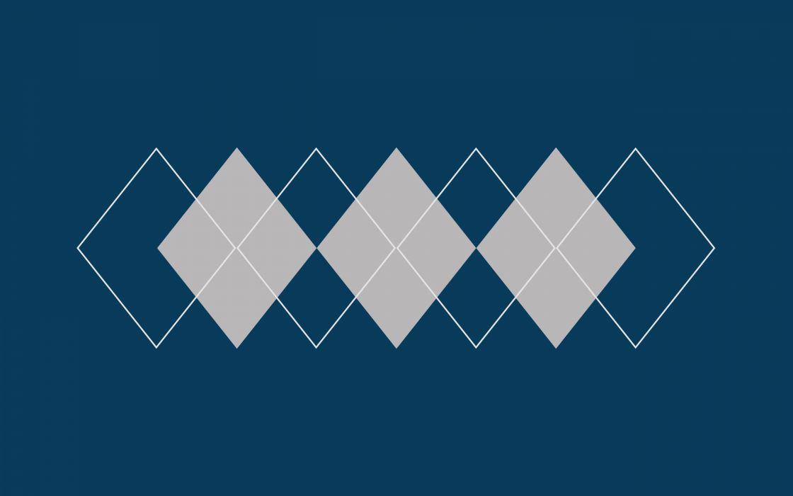 Minimalistic argyle pattern wallpaper