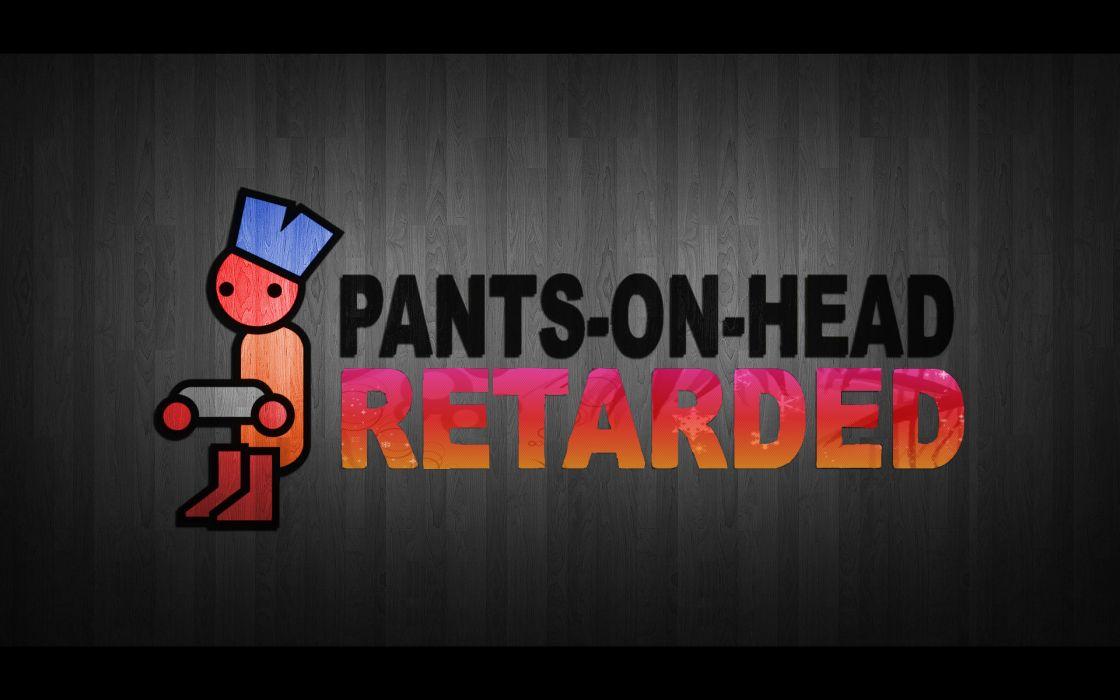 Pants retarded head zero punctuation wallpaper