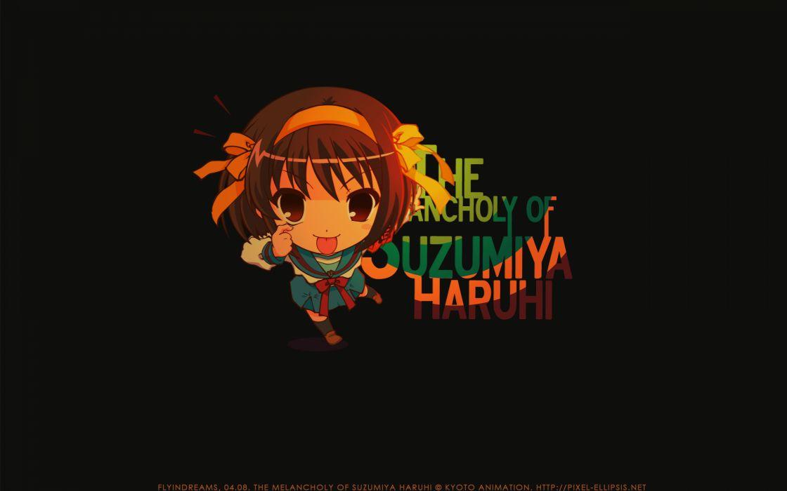 The melancholy of haruhi suzumiya anime girls suzumiya haruhi wallpaper