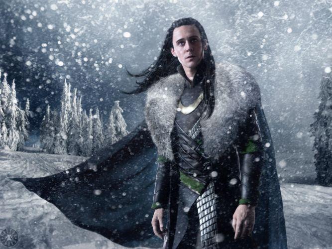 Snow trees cgi long hair artwork marvel comics loki tom hiddleston fan art armour thor (movie) wallpaper