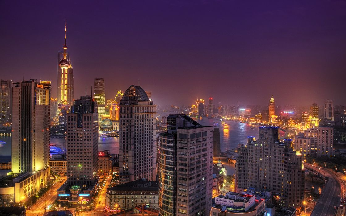 Cityscapes night buildings cities wallpaper