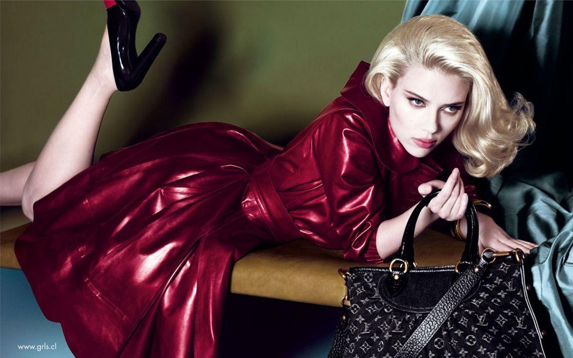 Blondes women scarlett johansson actress purses wallpaper