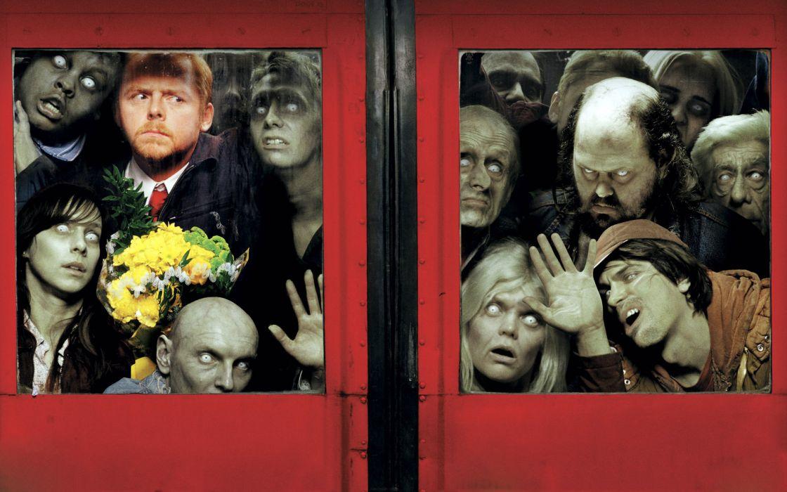 Zombies shaun of the dead simon pegg wallpaper