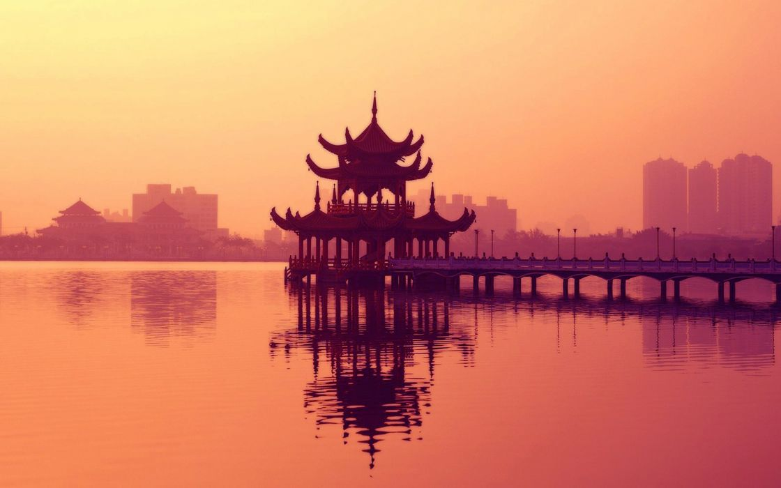 Water cityscapes architecture asia wallpaper
