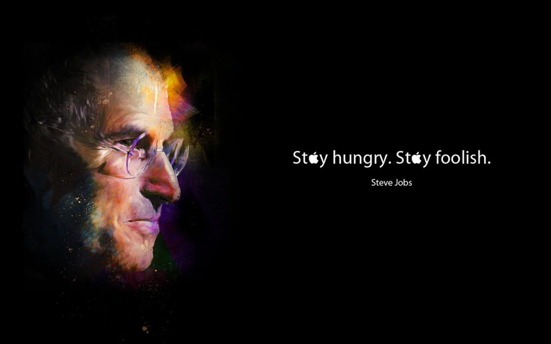 Celebrity steve jobs hungry foolish wallpaper