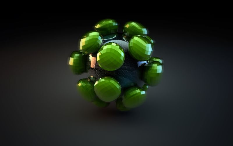 Abstract atomic 3d wallpaper