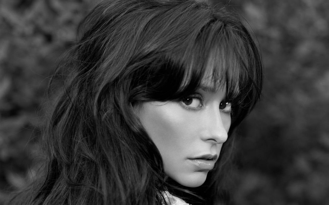 Women jennifer love hewitt grayscale monochrome wallpaper