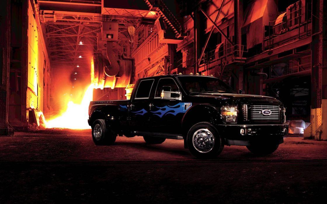 Trucks vehicles ford f350 harley davidson edition wallpaper