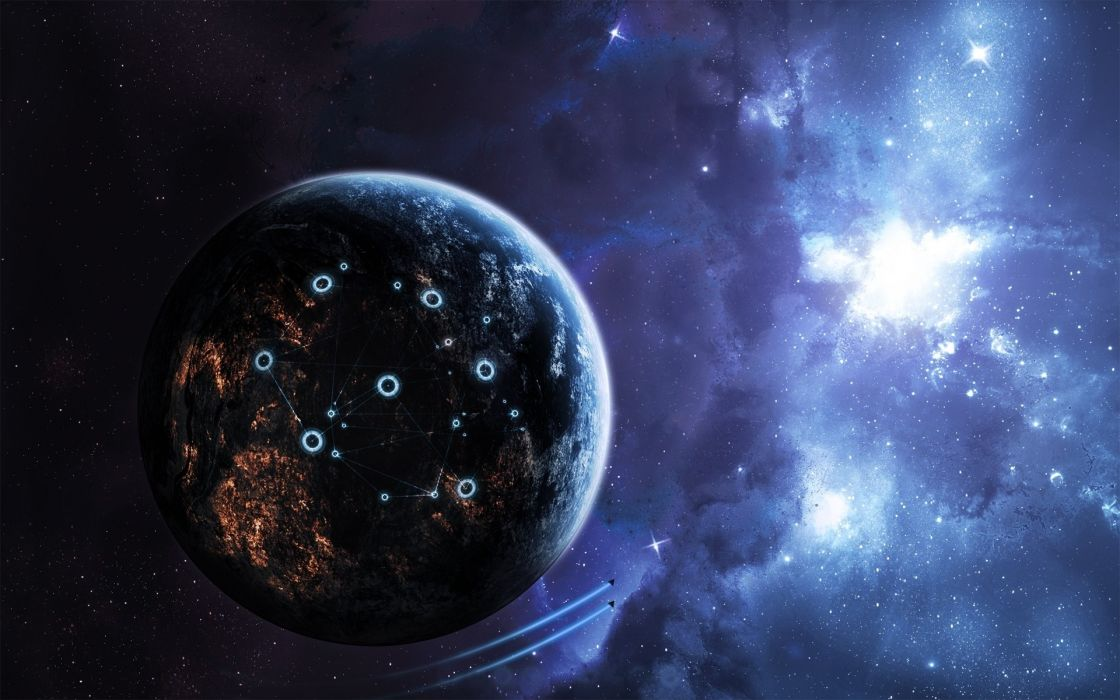 Outer space stars space wallpaper