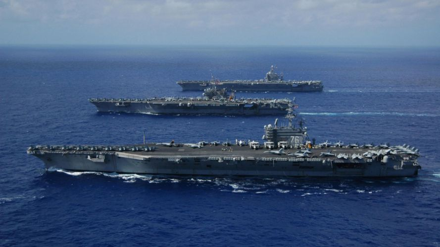 Water ocean carrier army military ships navy wallpaper