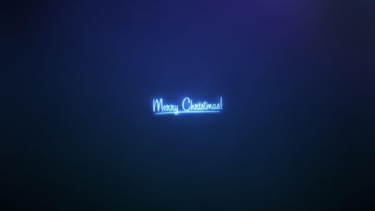 Blue christmas merry christmas wallpaper