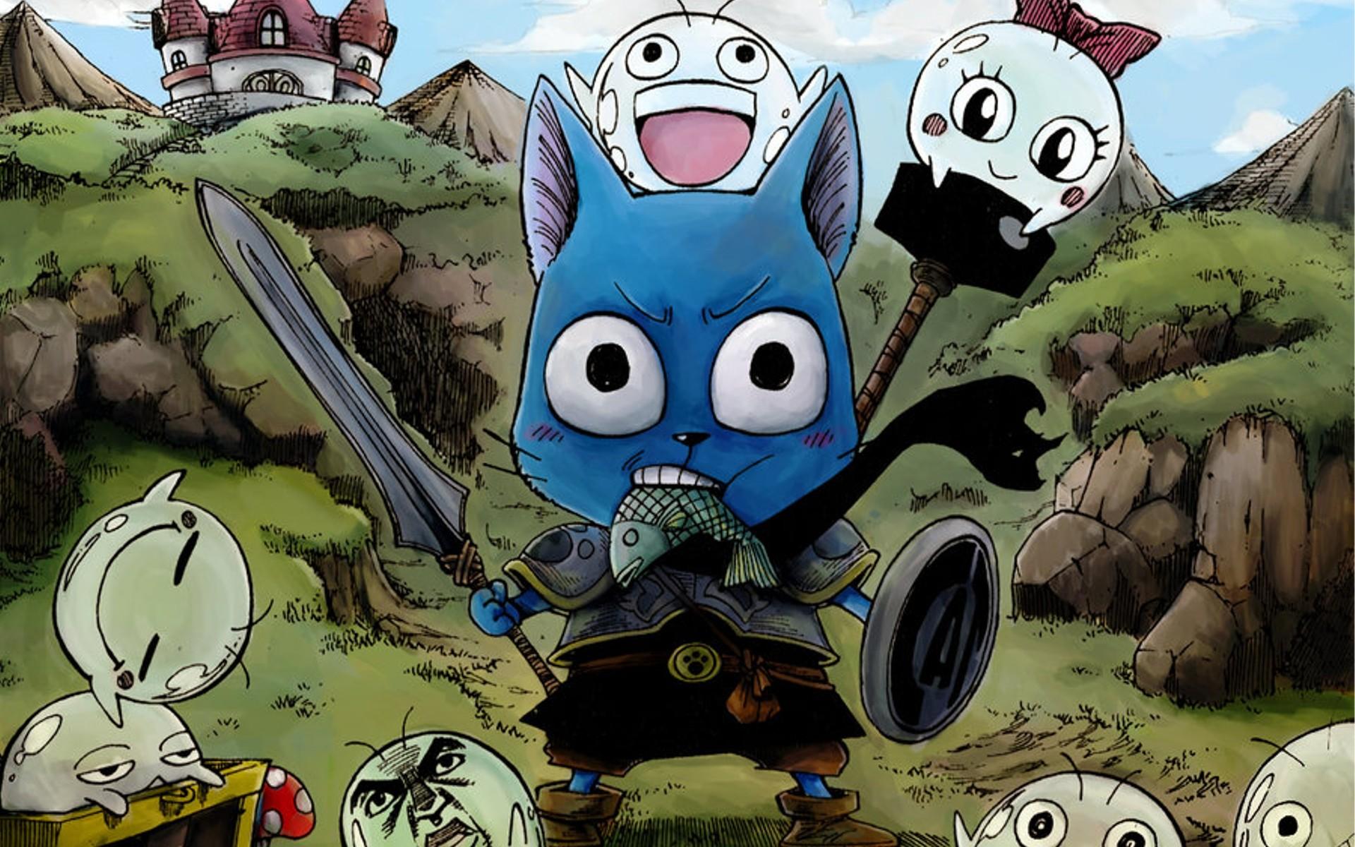 Fairy Tail Cats Drawn Happy