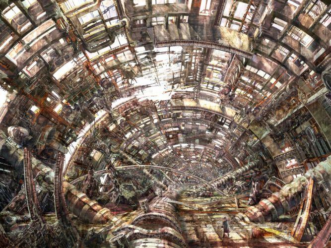 Large hadron collider detailed wallpaper