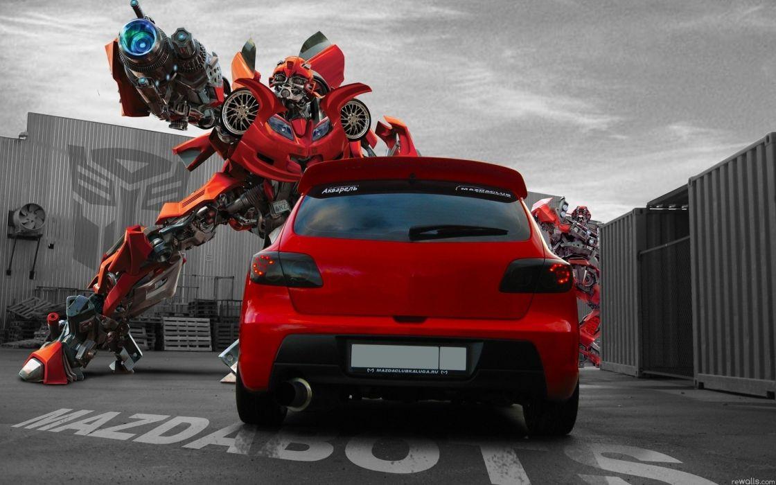 Transformers cars mazda bumblebee wallpaper