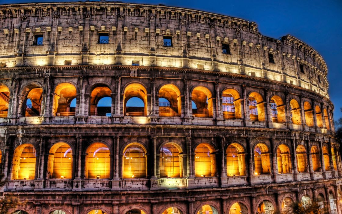 Rome italy coliseum hdr photography wallpaper