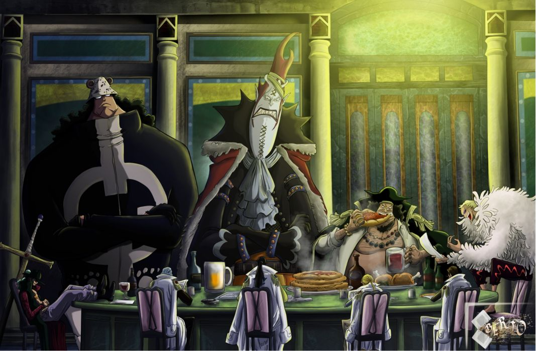 One piece (anime) seven samurai shichibukai wallpaper