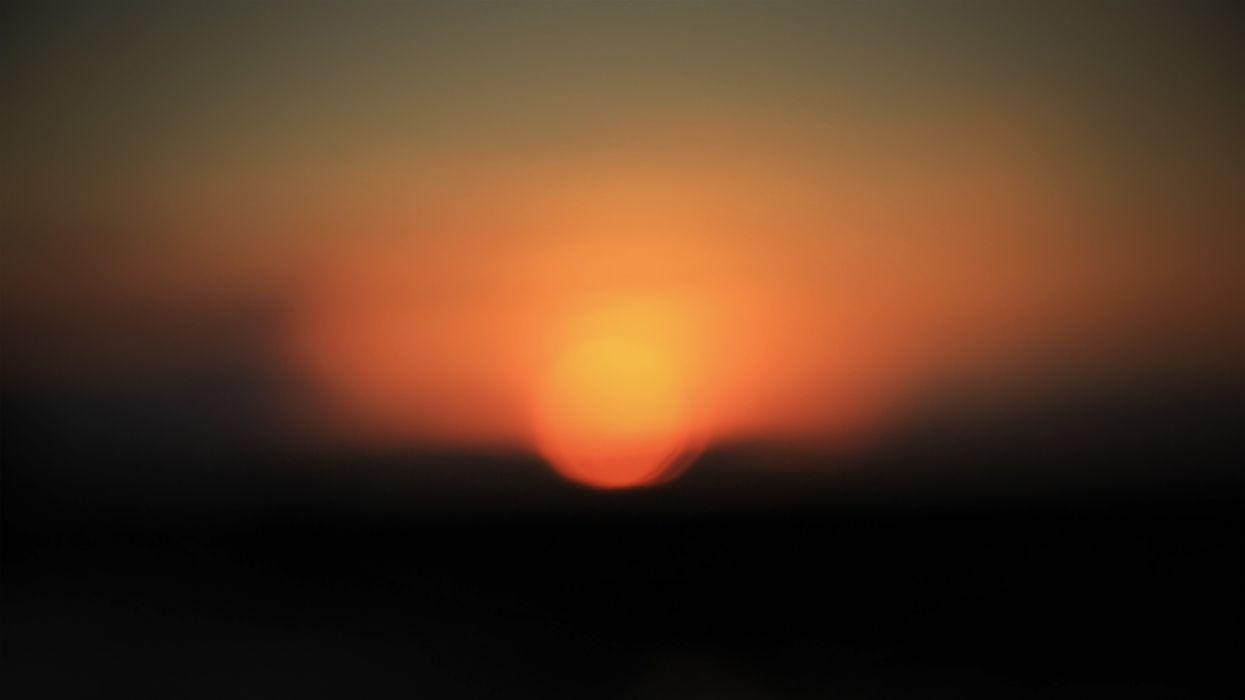 Sun bokeh wallpaper