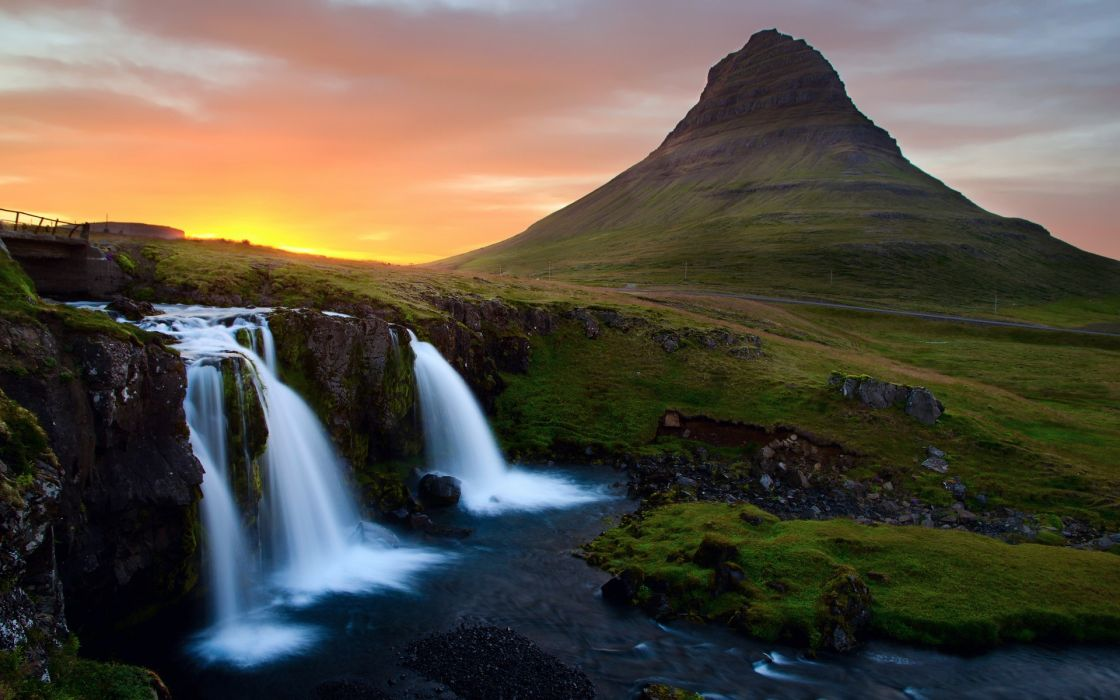 Mountains landscapes nature iceland waterfalls wallpaper