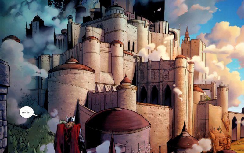 Castles thor asgard wallpaper
