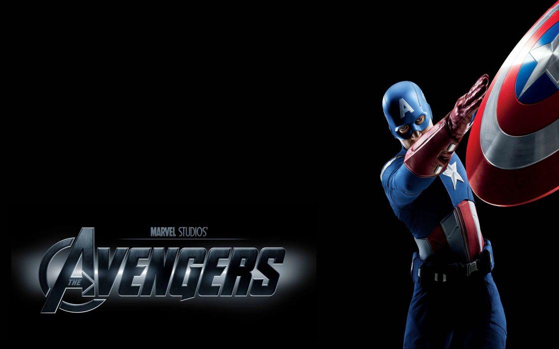 Captain america chris evans the avengers (movie) black background wallpaper