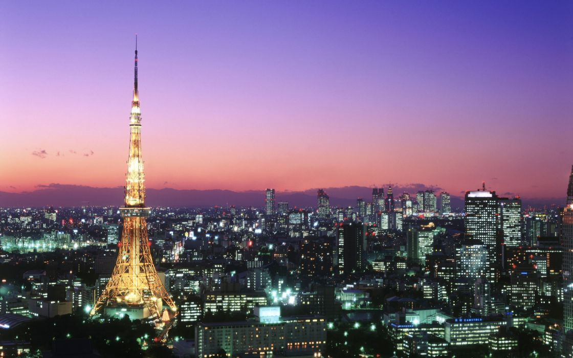 Tokyo cityscapes architecture buildings city lights wallpaper