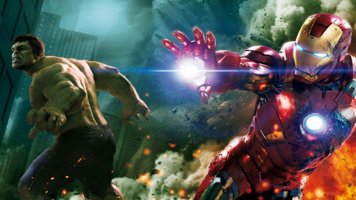 Hulk (comic character) iron man the avengers (movie) wallpaper