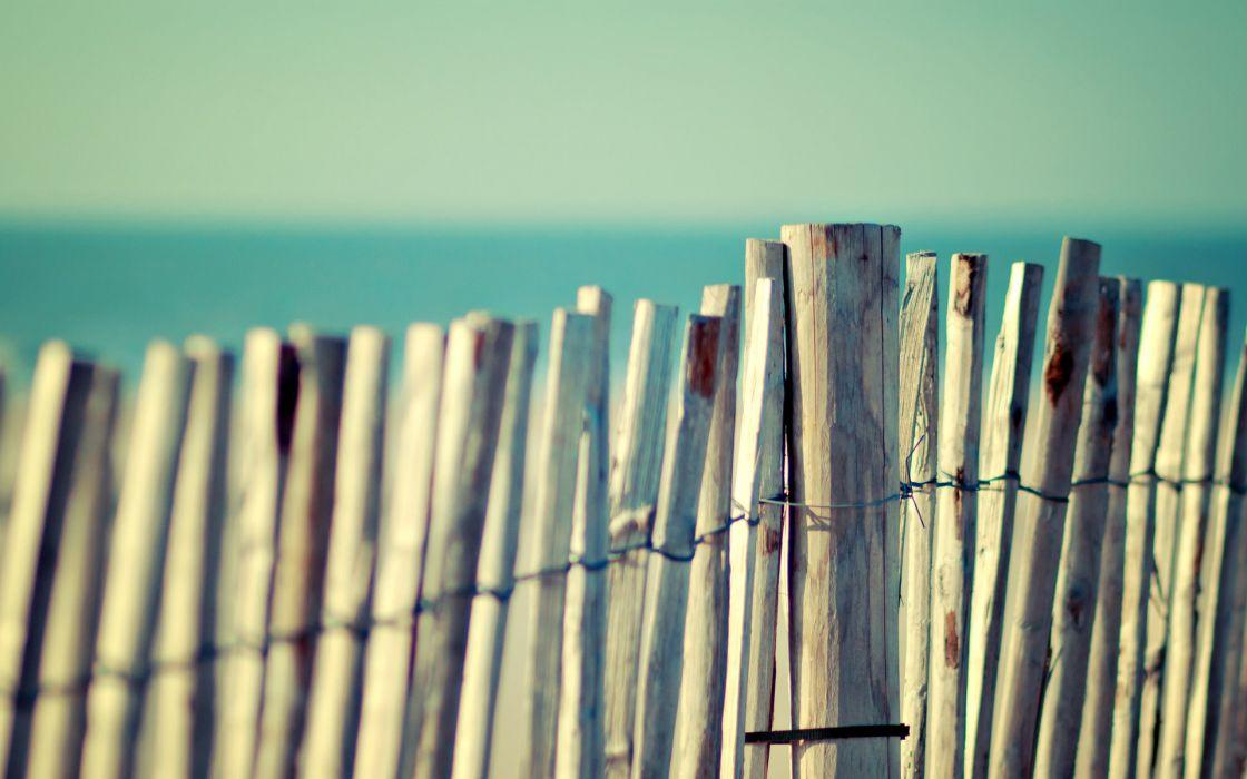 Fences macro picket fence wallpaper