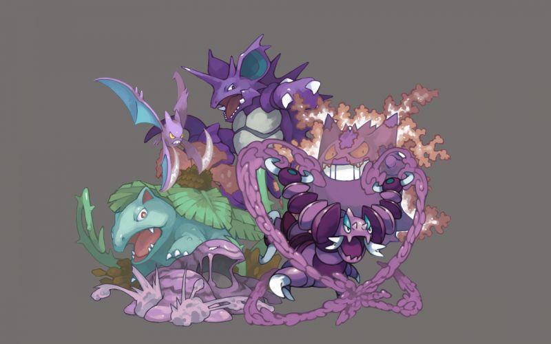 Pokemon venusaur gengar nidoking crobat wallpaper
